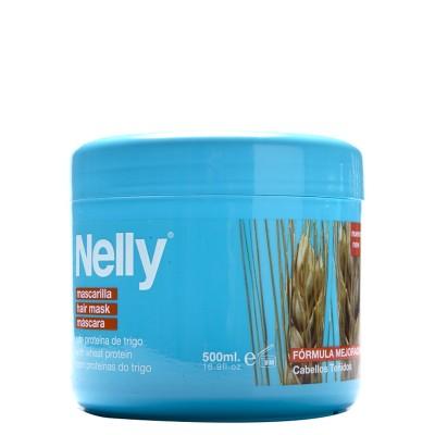 ماسک مو تثبیت کننده رنگ مو با پروتئین گندم نلی حجم 500 میل Nelly Colored Hair Mask With Wheat