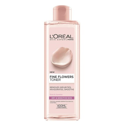تونر پاک کننده و نرم کننده پوست خشک و حساس لورال مدل Rare Flowers