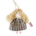 عروسک خیریه باران مدل مو فرفری مشکی Baran charity handmade doll