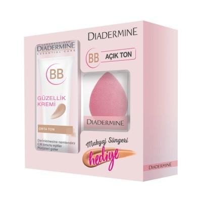 پک بی بی کرم و اسفنج آرایشی دیادرمین Diadermine essential care
