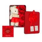 پک هدیه خرس و گل ولنتاین