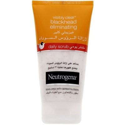 اسکراب ضد جوش سرسیاه نوتروژینا 150 میل Neutrogena VISIBLY CLEAR® blackhead eliminating Daily Scrub  