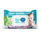 دستمال مرطوب کودک دافی مناسب پوست حساس 70 عددی Dafi Sensitive Skin Baby Wet Wipes 70 pcs