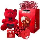 پک هدیه خرس و شکلات ولنتاین