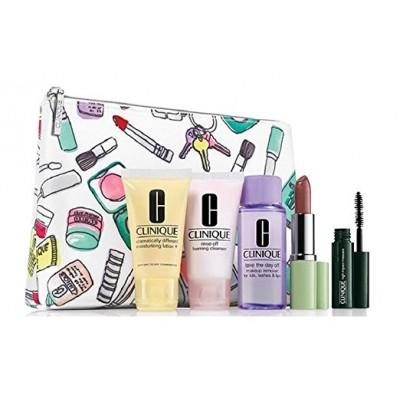 ست کلینیک+ کیف لوازم آرایش هدیه Clinique 6pcs gift set